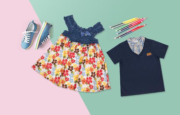Thương hiệu thời trang trẻ em Kids Mimi ưu đãi lên đến 50% với nhiều sản phẩm mangphong cách thời trang đơn giản, màu sắc đa dạng, tươi sáng.Các bécó thể dễ dàng kết hợp với nhiều trang phục khác nhau.