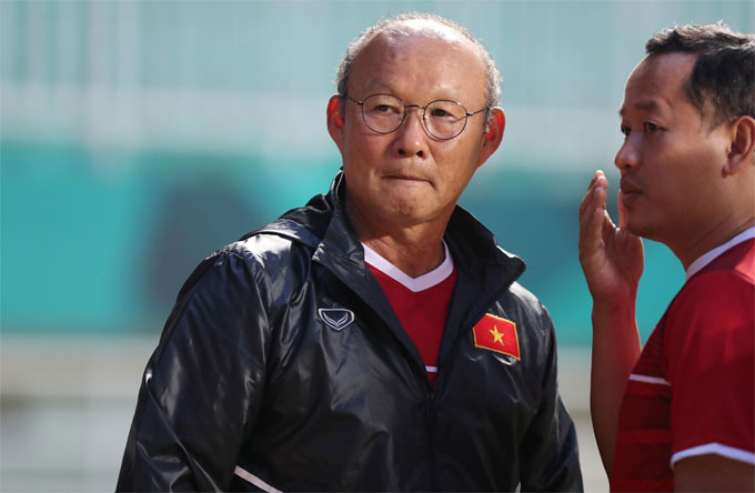 Ông Park Hang-seo có hơn một ngày để chuẩn bị cho trận gặp Hàn Quốc. Ảnh: Đức Đồng.