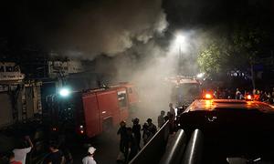 Phố kinh doanh sầm uất nhất Thanh Hóa 'tê liệt' vì hỏa hoạn