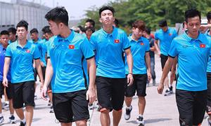 Olympic Việt Nam tới sân, sẵn sàng đối đầu Hàn Quốc