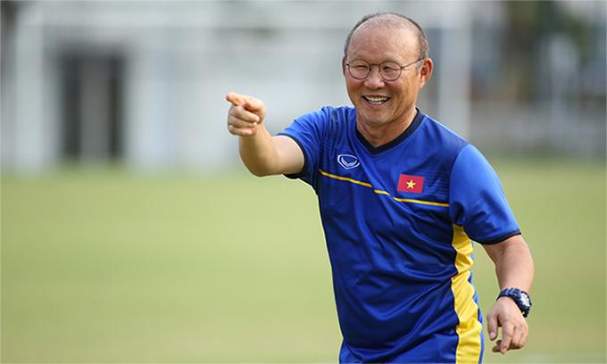 HLV Park Hang-seophải đối đầu với đội bóng quê hương khi Việt Nam gặp Hàn Quốc ở bán kết Asiad 2018. Ảnh: Đức Đồng.