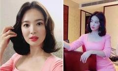 Song Hye Kyo thích thú selfie khi dự tiệc ở Hong Kong