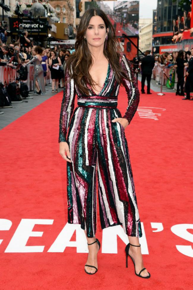 Sandra Bullock tại buổi ra mắt phim Oceans 8 ở London hồi tháng 6.