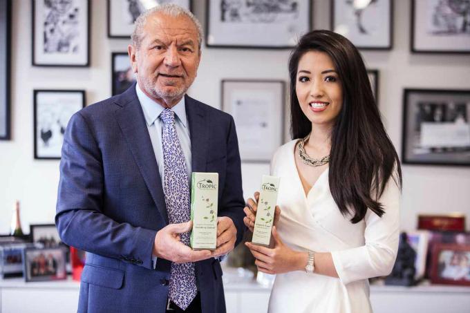 Trùm đầu tư Anh Lord Sugar và Susie Ma chia đều sở hữu thương hiệu chăm sóc da Tropic. Ảnh:Tropic Skincare.