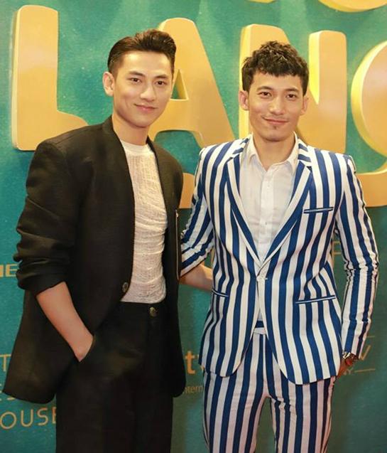 Liên Bỉnh Phát và Isaac tại sự kiện ra mắt phim Song Lang.