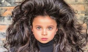 'Công chúa tóc mây' 5 tuổi đến từ Israel