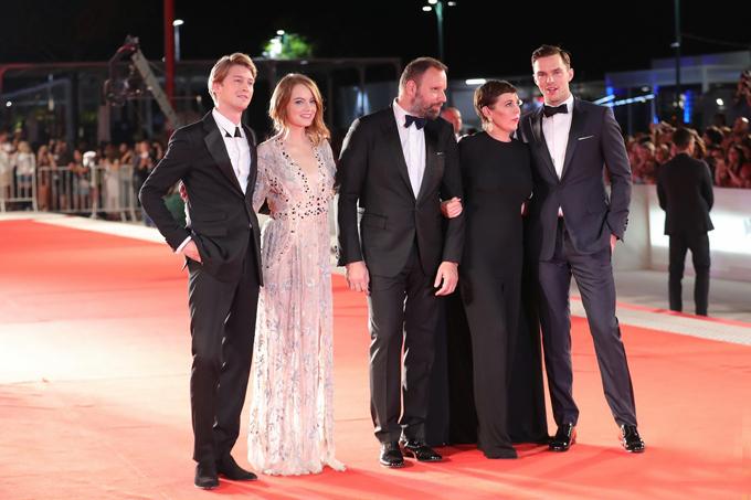 Đạo diễn và dàn diễn viên The Favourite.