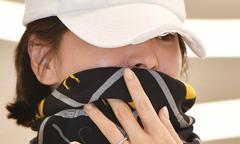 Song Hye Kyo che chắn kín mít khi từ Hong Kong về Hàn Quốc
