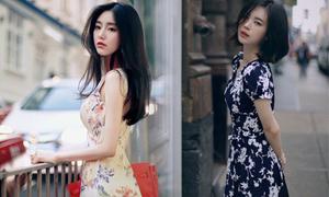 Những kiểu váy hoa khiến nàng công sở lãng mạn trong mùa thu