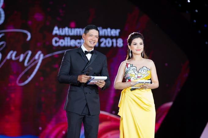 Bình Minh và Á hậu Diễm Trang dẫn dắt đêm thi.