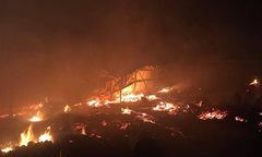 Xưởng gỗ 2000 m2 bị lửa thiêu rụi