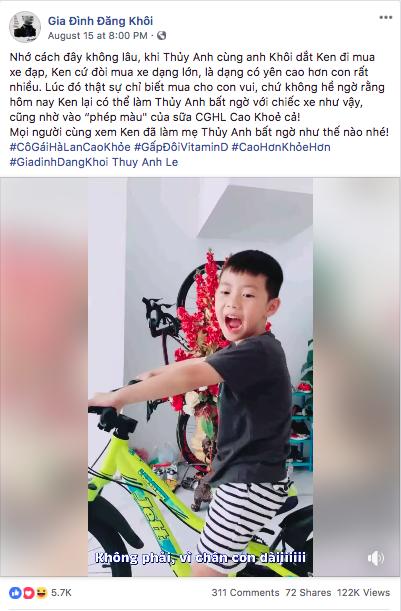 Video và status đáng yêu của bé Ken.