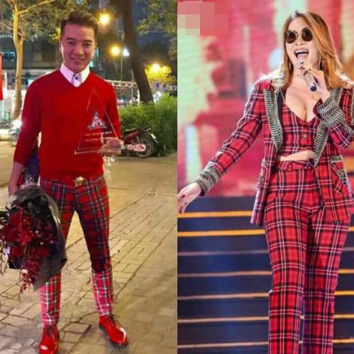 Đàm Vĩnh Hưng đăng loạt ảnh cho thấy anh và Mỹ Tâm có gu thời trang nhiều điểm tương đồng.