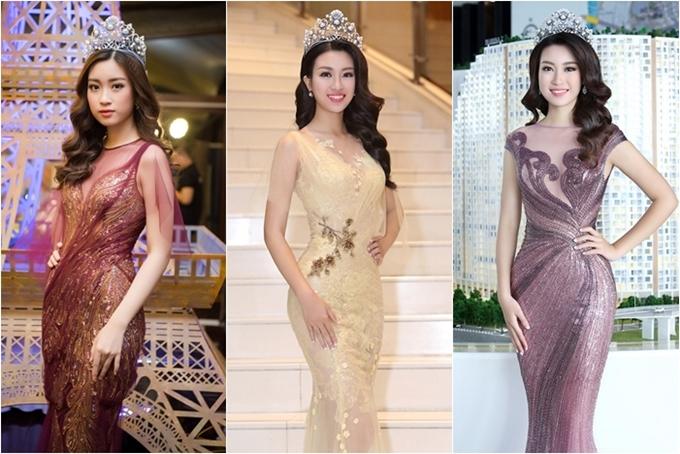 Đỗ Mỹ Linh là một trong những Hoa hậu mê đội vương miện nhất trong các dịp xuất hiện trước công chúng. Từ đi dự sự kiện của nhà tài trợ đến dự show thời trang, chiếc vương miện trị giá hơn 2 tỷ đồng luôn chễm chệ trên đầu của người đẹp.
