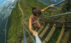 Nấc thang lên thiên đường ở Hawaii