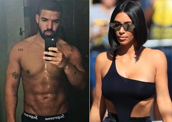 Drake và Kim kardashian.