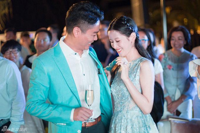 Lưu Cường Đông và Chương Trạch Thiên tổ chức đám cưới ở Sydney, Australia hồi tháng 10/2015. Ảnh: Chinaatila.