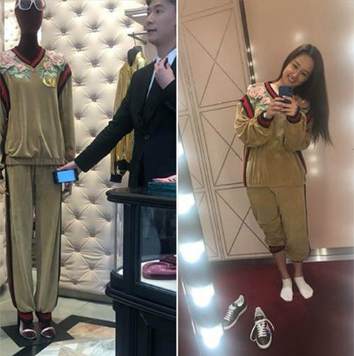 Mai Phương Thúy mua đồ hiệu Gucci vì mê anh bán hàng.