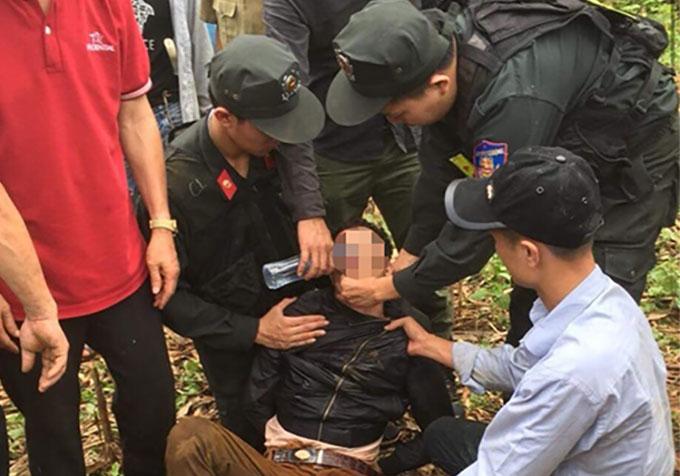 Nam nghi phạm bị cảnh sát vây bắt vào sáng nay. Ảnh. FB