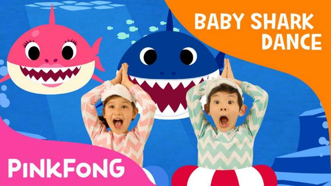Giai điệu lặp lại theo phong cách K-pop của Baby Shark gây nghiện cả cho người lớn. Ảnh: Pinkfong.