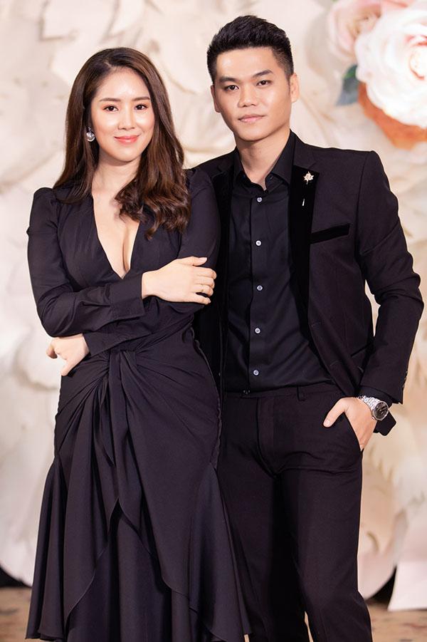 Vợ chồng Lê Phương - Trung Kiên tại triển lãm cưới do báo Ngoisao.net tổ chức diễn ra tối 25/8.