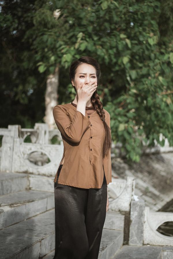 Á hậu Thụy Vân khoe giọng hát dân ca ngọt ngào cùng MC Hạnh Phúc  - 9