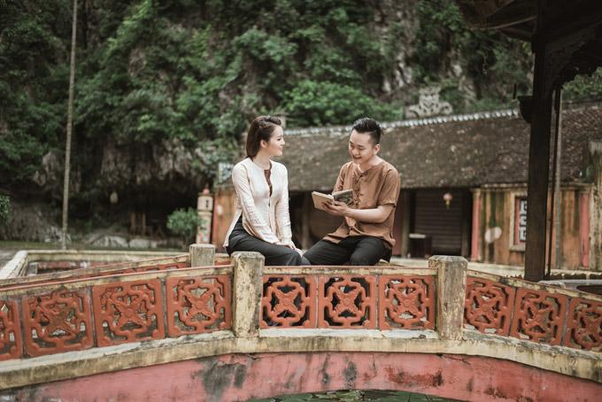 Á hậu Thụy Vân khoe giọng hát dân ca ngọt ngào cùng MC Hạnh Phúc  - 4