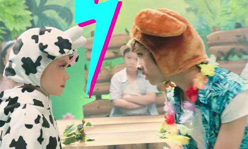 Bé Gia Khiêm, Bào Ngư 'đối đầu' trong MV 'Sữa Chuối tranh tài'