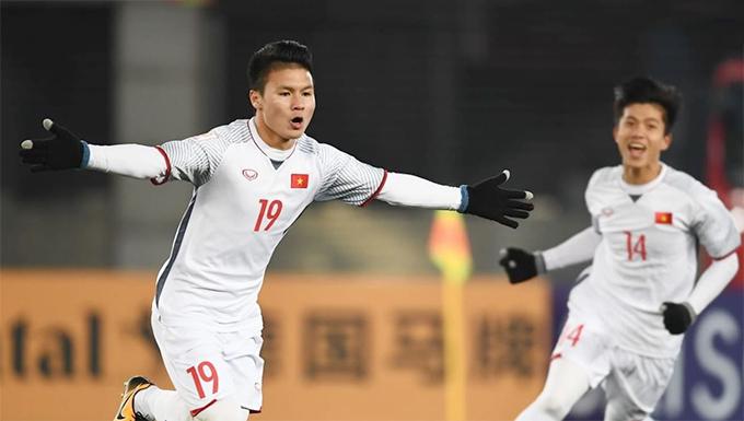 Quang Hải liên tục được truyền thông châu Á vinh danh sau Asiad 2018. Ảnh: AFC.