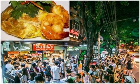 Tiệm pad Thái xếp hàng dài nhất Bangkok