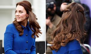 Mẹo uốn tóc xoăn đẹp như Công nương Kate chỉ cần vài sợi dây chun