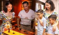 Hà Kiều Anh đưa em trai và hai con khám phá Hội An