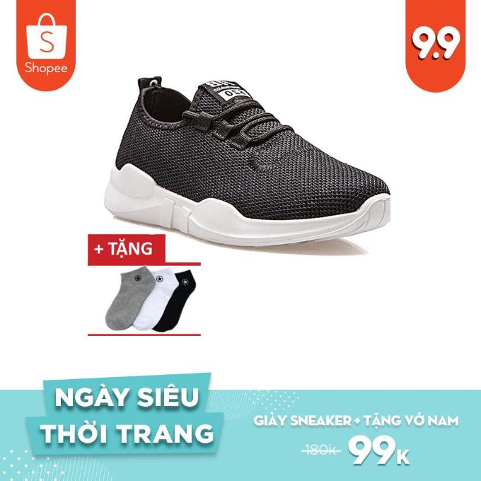 Nếu là tín đồ yêu thích đôi giày sneaker, bạn hãy thử giày Sneaker Unisex Zapas - GZ027 đang được khuyến mại kèm tất cho nam, giá chỉ còn 99.000 đồng (giá gốc 180.000 đồng).