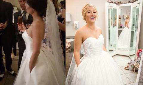 Váy cưới 'trong mơ' của các cô gái hóa ra chỉ cần có túi