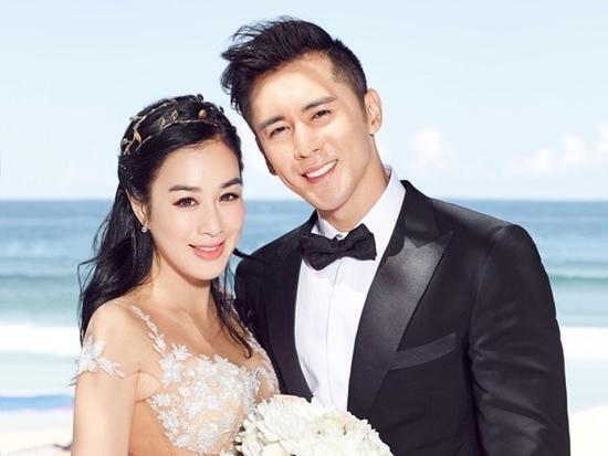 Chung Lệ Đề và chồng, tài tử Trương Luân Thạc.