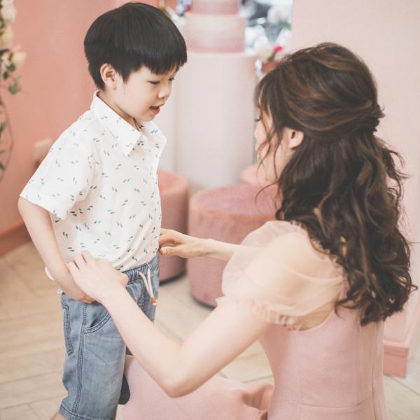 Hoa hậu Áo dài Phí Thuỳ Linh khoe hai con trai kháu khỉnh - 2