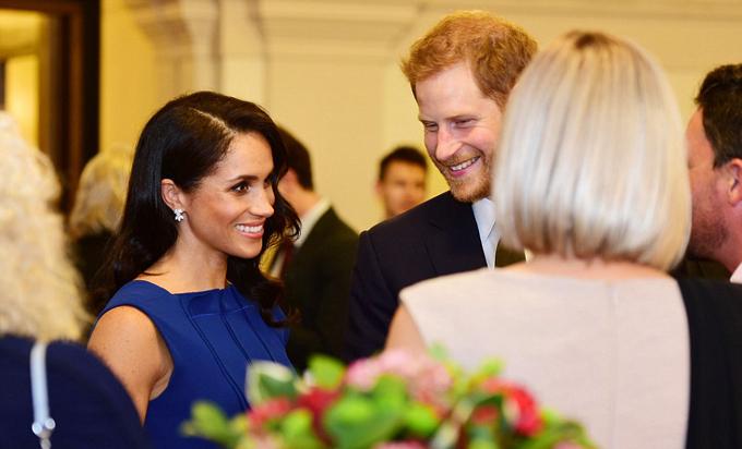 Trong thời gian tạm ngưng, cặp vợ chồng hoàng gia gặp một số nghệ sĩ trong buổi biễu diễn và đại diện của các tổ chức từ thiện, các nhà tài trợ tại phòng tiếp đónTổng thống của trung tâm hội nghị.
