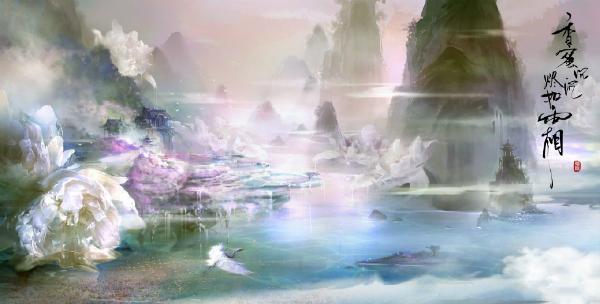 Khung cảnh thần tiên rực rỡ trong Hương mật tựa khói sương.