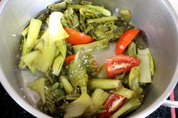 Gân bò hầm dưa cải chua ngọt - 4