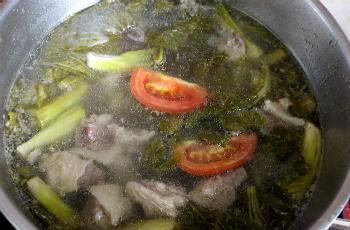 Gân bò hầm dưa cải chua ngọt - 5
