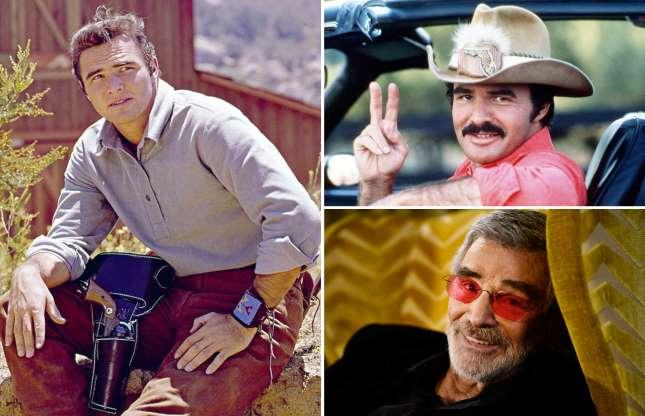 Hình ảnh Burt Reynolds qua năm tháng.