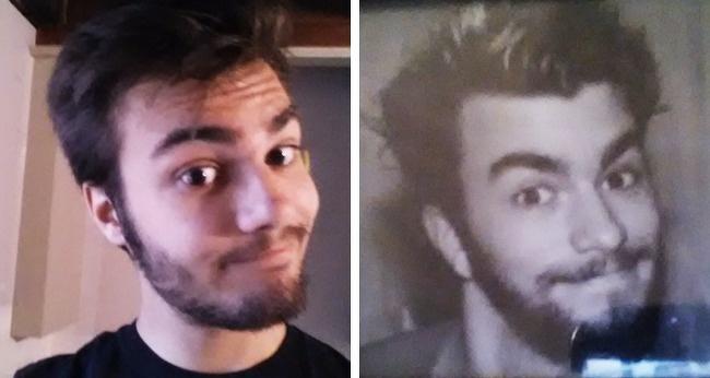 Hai cha con trông như anh em dù cách nhau 29 năm.