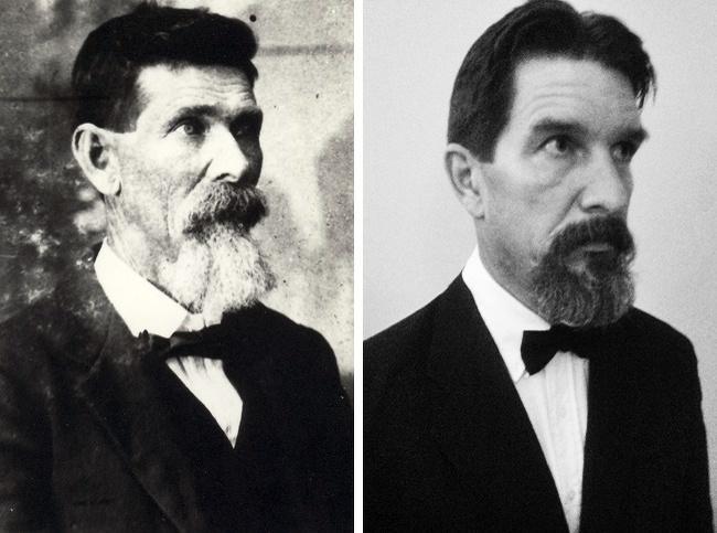 Một độc giả lớn tuổi chia sẻ ông có nhiều nét ngoại hình giống cụ mình khi đăng bức ảnh ghép.