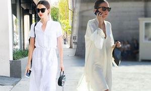 Những kiểu váy sơ mi dáng rộng mặc vào cuối tuần