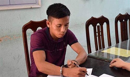 Phạm Văn Toàn tại cơ quan điều tra. Ảnh: CAND.