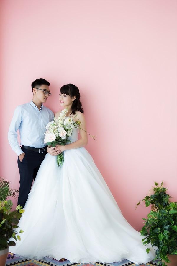 Thử làm cô dâu chú rể là một trong những trải nghiệm thú vị nhất diễn ra trong sự kiện.