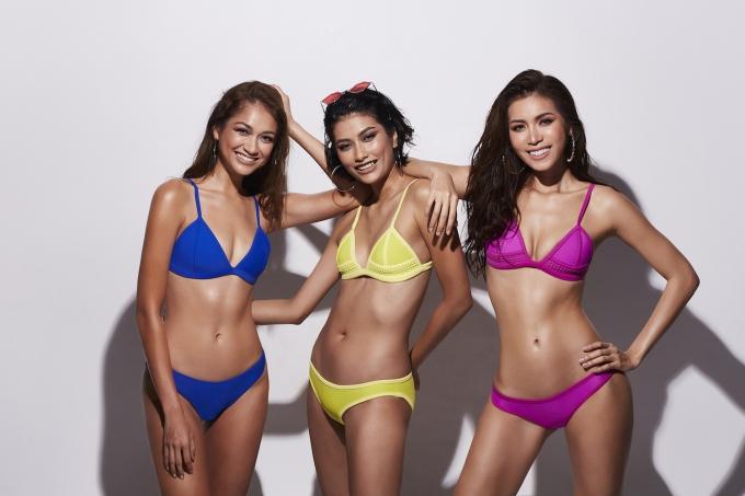 Minh Tú mặc bikini đọ dáng cùng hai Á quân Asias Next Top