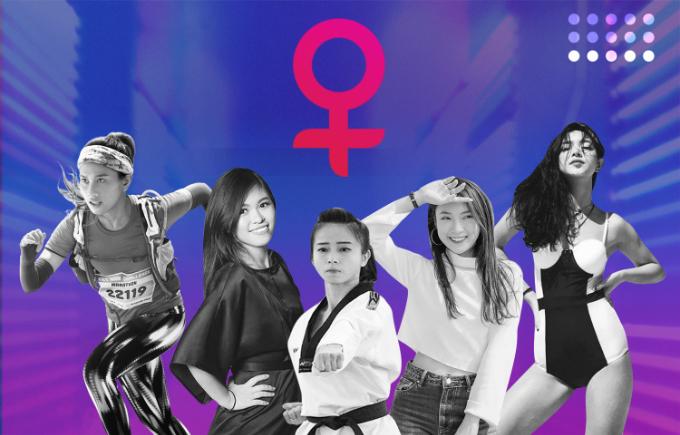 Từ trái sang phải: Vũ Phương Thanh, Thủy Muối, Châu Tuyết Vân, Khánh Vy và Châu Bùi cùng tham gia dự án dành cho các bạn gái của Kotex.