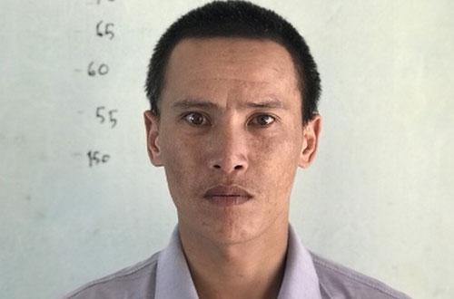 Bị can Nguyễn Văn Hiếu tại trụ sở công an.