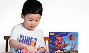 Tạo hứng thú học tập cho trẻ với bộ đồ dùng Người Nhện